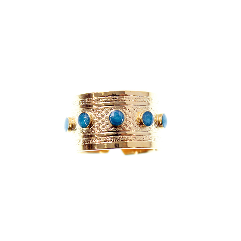 Bague Email Bleue